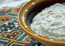 Piatto russo della farina d'avena Fotografie Stock Libere da Diritti