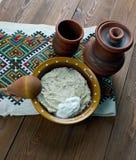 Piatto russo della farina d'avena Fotografia Stock Libera da Diritti