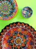 Piatto stampato mano turca immagini stock libere da diritti