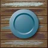 Piatto sulla tavola di legno Fotografia Stock Libera da Diritti