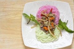 Piatto tailandese 2 della tagliatella Fotografia Stock Libera da Diritti
