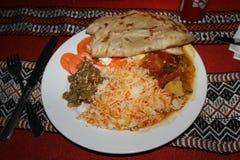 Piatto tipico di abitante dell'Oman Immagini Stock