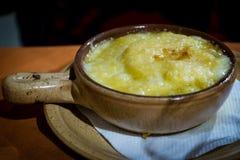 Piatto tradizionale da area di Aosta del ` di Valle D Immagini Stock Libere da Diritti