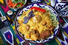 Piatto tradizionale del riso e dell'agnello Fotografia Stock Libera da Diritti
