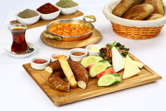 Piatto turco della prima colazione fotografie stock libere da diritti