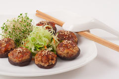 Piatto vegetariano cinese del fungo Fotografia Stock Libera da Diritti