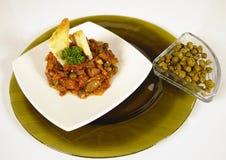 Piatto vegetariano del cappero Fotografia Stock Libera da Diritti