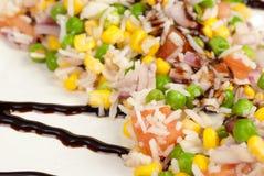 Piatto vegetariano del riso immagini stock libere da diritti