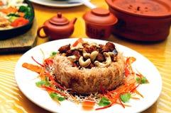 Piatto vegetariano dell'igname fotografia stock