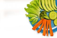 Piatto vegetariano delle verdure Immagini Stock