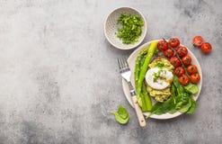 Piatto vegetariano sano del pasto immagine stock libera da diritti
