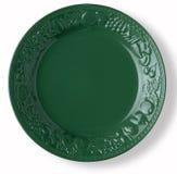 Piatto verde vuoto Immagine Stock Libera da Diritti