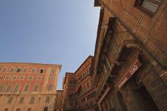 Piazza园地台尔园地,锡耶纳意大利 图库摄影