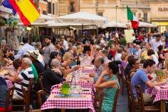 Piazza园地De Fiori在罗马,意大利 库存照片