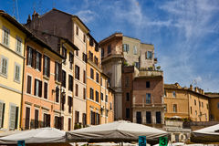 Piazza园地di Fiori,罗马,意大利 库存图片