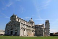 piazza在Piza的del Duomo,意大利 免版税库存照片