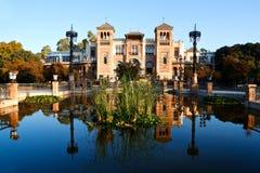 Piazza Amerika in Sevilla, Spanien lizenzfreies stockfoto