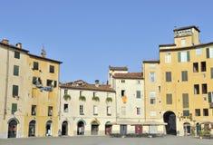 Piazza Anfiteatro, Luca, Italië royalty-vrije stock foto