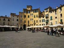Piazza Anfiteatro Luca Italy royalty free stock photos