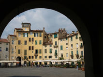 The Piazza Anfiteatro - Lucca Stock Images