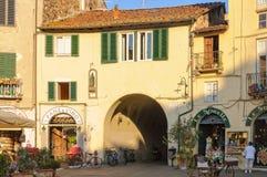 Piazza Anfiteatro 2 - Lucca Royaltyfri Foto