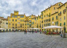 Free Piazza Anfiteatro, Lucca City, Italy Stock Images - 125345234