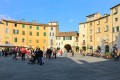 Piazza Anfiteatro, Lucca. Royalty Free Stock Image
