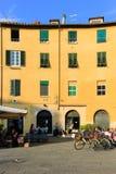Piazza Anfiteatro, Lucca. Stock Photo