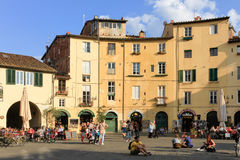 Piazza Anfiteatro, Lucca. Stock Images