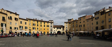 Piazza Anfiteatro - Lucca , Tuscany Stock Image