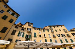 Piazza Anfiteatro - Lucca Tuscany Italy Stock Photography