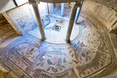 Piazza Armerina. Mosaics in Villa Romana del Casale, Piazza Armerina, Sicilia, Italy, UNESCO World Heritage Site stock photography