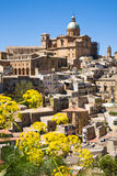 Piazza Armerina. The old historic town of Piazza Armerina in central Sicily in the Enna province, Italy stock images