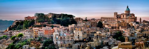 Piazza Armerina at Sunset time. royalty free stock image