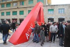 Piazza attias livorno Stock Image