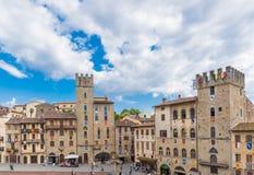 Piazza av Arezzo Royaltyfria Bilder