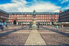 Piazza-Bürgermeister in Madrid lizenzfreie stockbilder