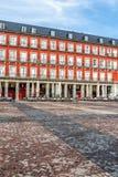 Piazza-Bürgermeister in Madrid, Spanien stockbild