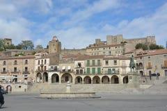 Piazza-Bürgermeister - Trujillo Extremadura Spanien Lizenzfreies Stockbild