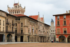 Piazza-Bürgermeister in Vic, Katalonien Stockfotografie