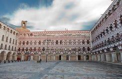Piazza-Bürgermeister von Badajoz, Extremadura, Spanien Stockbild