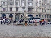 Piazza Barberini Rzym Zdjęcie Stock