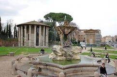 Piazza Bocca della Verita Royalty Free Stock Images
