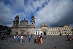 Piazza Bolivar - Bogota Stockfoto