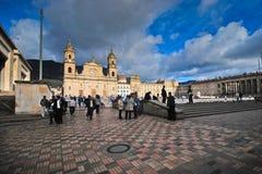 Piazza Bolivar - Bogota Stockbild