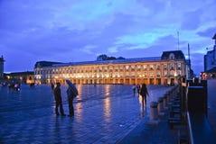 Piazza Bolivar an der Dämmerung Stockbilder