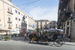 Piazza Bologni, Palermo royalty free stock image