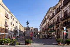 Piazza Bologni, Palermo, Italy royalty free stock images