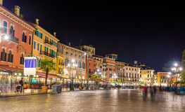 The Piazza Bra, the central square of Verona Royalty Free Stock Photos