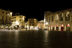 Verona at night Stock Photo